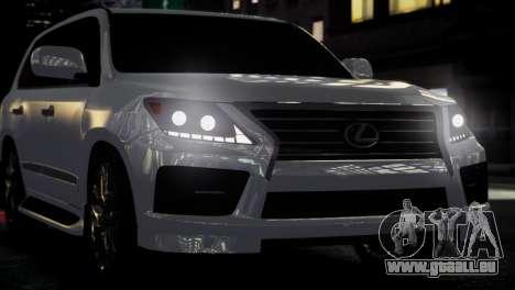 Lexus Lx 570 2014 sport pour GTA 4 Vue arrière