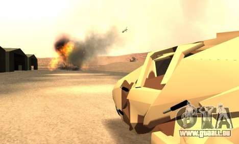 Army Tumbler Rocket Launcher from TDKR pour GTA San Andreas vue de dessus