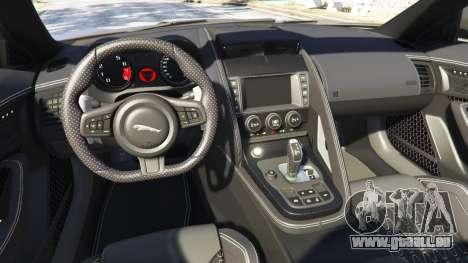 GTA 5 Jaguar F-Type Project 7 2016 arrière droit vue de côté