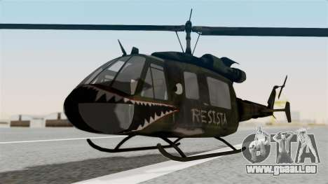 Castro V Attack Copter from Mercenaries 2 pour GTA San Andreas vue de droite