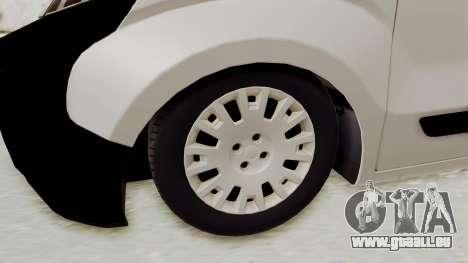 Fiat Fiorino 2014 für GTA San Andreas Rückansicht