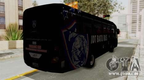 Marcopolo JDT Batu Bus pour GTA San Andreas sur la vue arrière gauche