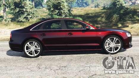 GTA 5 Audi S8 W12 2016 linke Seitenansicht