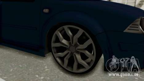 Volkswagen Bora 1.8T pour GTA San Andreas vue arrière