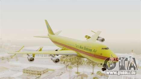 Boeing 747-200 Trans San Andreas Air für GTA San Andreas zurück linke Ansicht