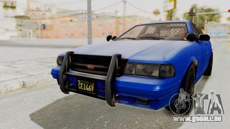 GTA 5 Vapid Stanier II Police Cruiser 2 pour GTA San Andreas sur la vue arrière gauche