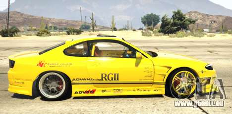 GTA 5 Nissan Silvia S15 Vertex linke Seitenansicht