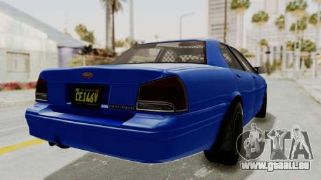 GTA 5 Vapid Stanier II Police Cruiser 2 pour GTA San Andreas vue de droite
