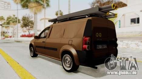 Dacia Logan MCV Van pour GTA San Andreas laissé vue