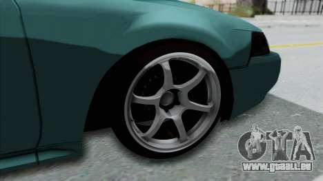 Ford Mustang 1999 Drift Falken für GTA San Andreas Rückansicht