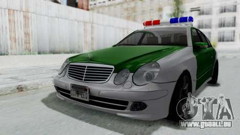 Mercedes-Benz E500 Police pour GTA San Andreas vue de droite
