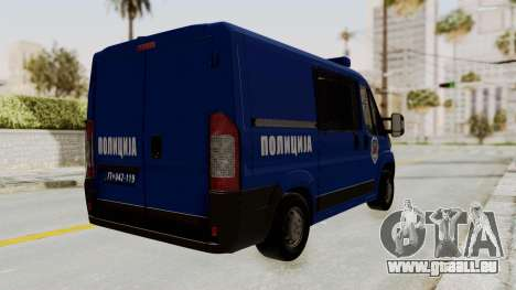 Fiat Ducato Police für GTA San Andreas linke Ansicht