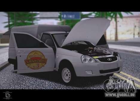 Lada Priora Stok Budka pour GTA San Andreas vue de droite