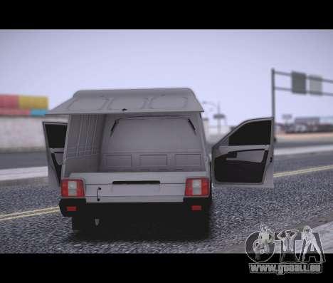 Lada Priora Stok Budka pour GTA San Andreas sur la vue arrière gauche