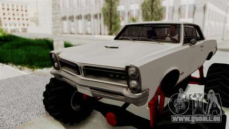 Pontiac GTO Tempest Lemans 1965 Monster Truck für GTA San Andreas Rückansicht