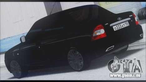 Lada Priora Sedan für GTA San Andreas zurück linke Ansicht