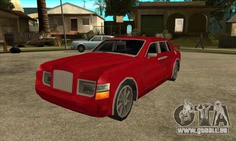 Rolls Royce Phantom für GTA San Andreas zurück linke Ansicht