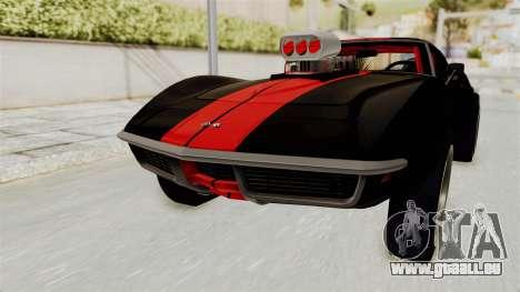 Chevrolet Corvette Stingray C3 1968 Drag für GTA San Andreas