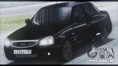 Lada Priora Sedan für GTA San Andreas Unteransicht