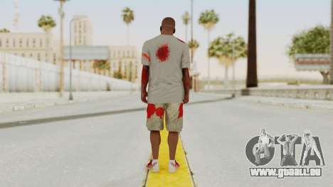 GTA 5 Franklin Zombie Skin für GTA San Andreas dritten Screenshot
