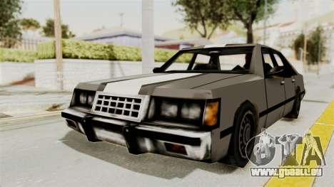 Stanier Turbo pour GTA San Andreas sur la vue arrière gauche
