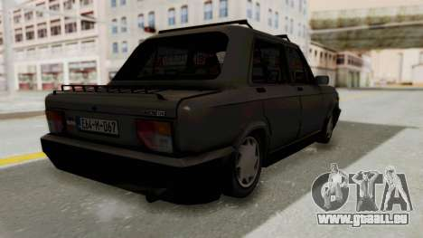 Zastava 128 pour GTA San Andreas laissé vue