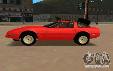 Chevrolet Corvette C4 pour GTA San Andreas laissé vue