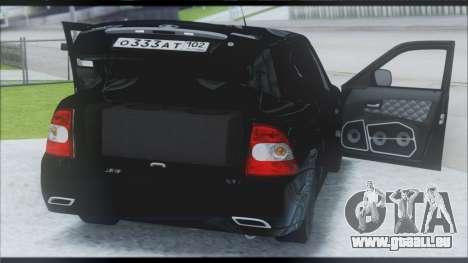Lada Priora Sedan pour GTA San Andreas vue intérieure