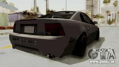 Ford Mustang 1999 Drift pour GTA San Andreas laissé vue