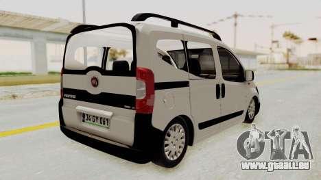 Fiat Fiorino 2014 pour GTA San Andreas laissé vue