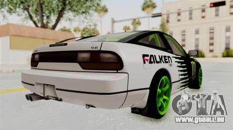 Nissan 240SX Drift Monster Energy Falken pour GTA San Andreas vue de droite