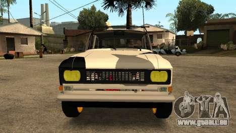 AZLK 412 pour GTA San Andreas laissé vue