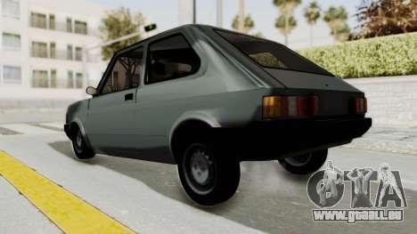 Fiat 147 Vivace pour GTA San Andreas sur la vue arrière gauche