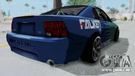Ford Mustang 1999 Drift Falken für GTA San Andreas zurück linke Ansicht