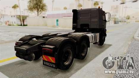 Volvo FMX Euro 5 6x4 pour GTA San Andreas sur la vue arrière gauche
