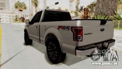 Ford Lobo XLT 2015 Single Cab pour GTA San Andreas laissé vue