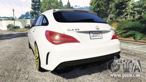 GTA 5 Mercedes-Benz CLA 45 AMG [HSR Wheels] arrière vue latérale gauche