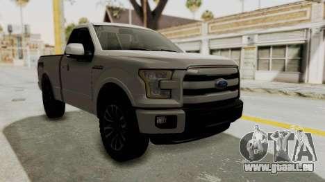 Ford Lobo XLT 2015 Single Cab pour GTA San Andreas vue de droite