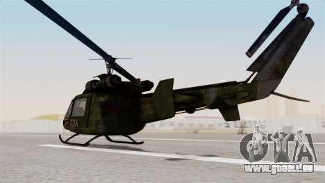 Castro V Attack Copter from Mercenaries 2 pour GTA San Andreas sur la vue arrière gauche