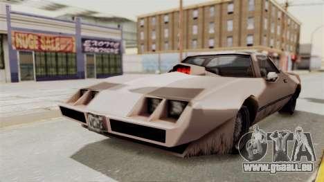 Beta VC Phoenix pour GTA San Andreas sur la vue arrière gauche