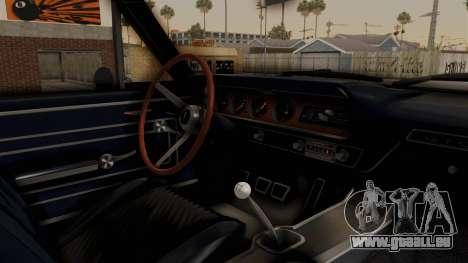 Pontiac GTO Tempest Lemans 1965 Monster Truck pour GTA San Andreas vue intérieure