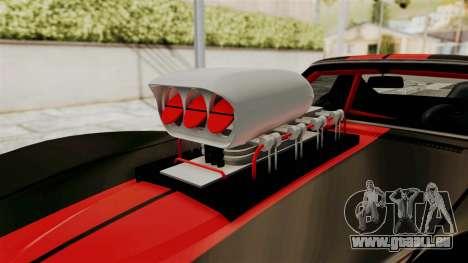 Chevrolet Corvette Stingray C3 1968 Drag für GTA San Andreas Rückansicht