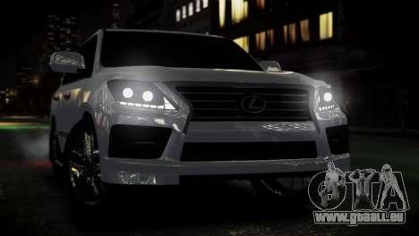 Lexus Lx 570 2014 sport pour GTA 4 est un droit