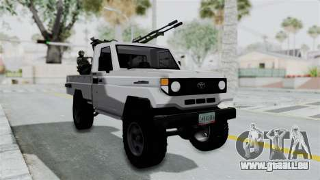 Toyota Land Cruiser Libyan Army pour GTA San Andreas