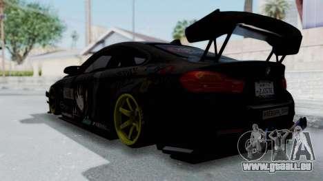 BMW M4 Kurumi Itasha pour GTA San Andreas laissé vue