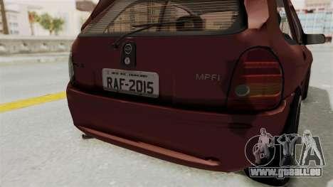 Chevrolet Corsa Hatchback Tuning v1 pour GTA San Andreas vue de dessous