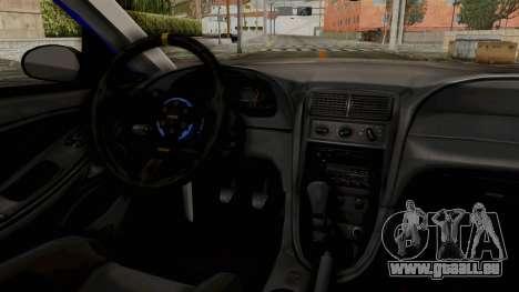 Ford Mustang 1999 Drag pour GTA San Andreas vue arrière