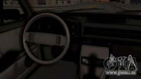 Zastava 128 pour GTA San Andreas vue intérieure