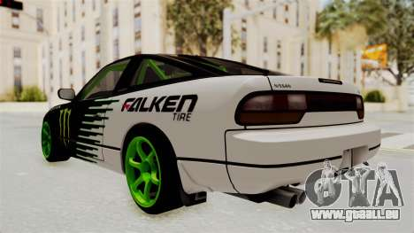 Nissan 240SX Drift Monster Energy Falken für GTA San Andreas linke Ansicht