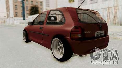 Chevrolet Corsa Hatchback Tuning v1 pour GTA San Andreas laissé vue